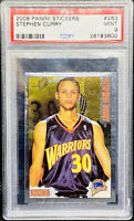 STEPHEN CURRY 2009-10 Panini Stickers Rookie RC #263 Golden State PSA 9 POP 25