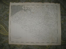 SUPERB RARE ANTIQUE 1805 NETHERLANDS COPPERPLATE MAP FLANDERS LUXEMBOURG BRABANT