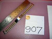 """'JB Champion USA made Jubilee 1/40 10K RGP SOLID S Steel Two Tone Watch BAND5/8"""""""