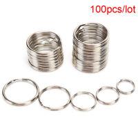 100X/lot Key Rings DIY Metal Key Holder Split Rings Hoop Metal Loop Keychain  Hs