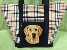 Beautiful Custom Embroidered Golden Retriever Tote