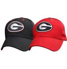 Georgia Bulldogs NCAA College football Cap Berretto Nero Velcro