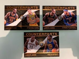 LOT 3 cards 2016-17 Limited Counterparts Kevin Durant/LeBron James, Curry Anthon