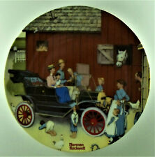Farmer Takes A Ride Plate American Road Series by Norman Rockwell Barn Car Child