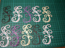 Tattered Lace Pearl Flourish Die Cuts in Assorted Colours x10 - NOT THE DIE