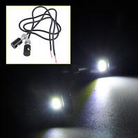2X Weiß LED Nummernschild Kennzeichen Beleuchtung Schraube Lampen Auto Motorrad