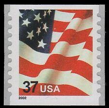 USA Sc. 3632 37c Flag 2003 MNH SA 9¾ coil single