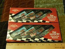 '90s RJ Reynolds_NASCAR ~ Winston Cup Series [LOT of 2] ~ Cricket Lighter Sets ~