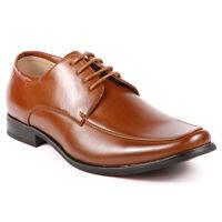 Men's Cognac Brown Lace-up Oxford Classic Dress Shoes