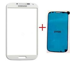 Front Outer Lens Glass touch Screen For Samsung Galaxy S4 i9500 +Adhesive
