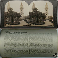 Keystone Stereoview the Plaza & Cathedral of Lima in PERU From 600/1200 Card Set