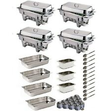 OMEGA CHAFING DISH PACK WITH EXTRA PANS, FUEL & SPOONS *FREE NEXT DAY DELIVERY*