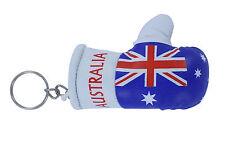 mini boxing gloves keychain keyring key chain leather ring Flag Australia