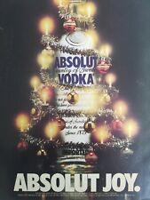 1988 Absolut Joy Vodka bottle Christmas ornaments vintage alcohol distillery ad