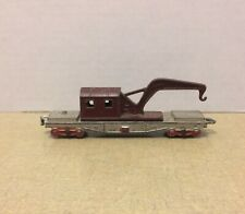 "VINTAGE TOOTSIETOY METAL CRANE RED MAROON BURGUNDY TRAIN RAILROAD 5"" SWIVEL"