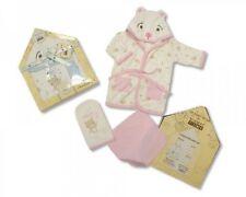 Oso Clásico Bebé 3 piezas Juego de regalo de algodón-Rosa