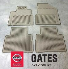 Nissan Murano OEM Rubber All Weather Floor Mats 2011 2014 999E1 CW001 (beige