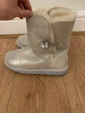 UGG Cream Shimmer Short Boots Size 5.5