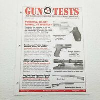 Gun Tests Magazine .44 Specials 9mm Compact Pistols .223 Remington October 2000