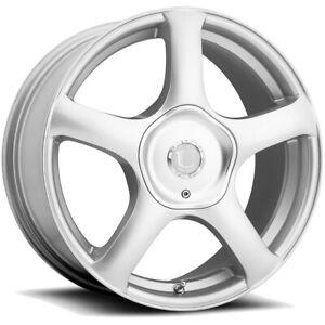 "Ultra 402S Alpine 18x8 5x112/5x120 +32mm Silver Wheel Rim 18"" Inch"