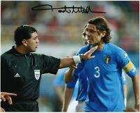 Paolo Maldini - Foto Autografata - Soccer Signed Photo Mondiali 2002 Autografo