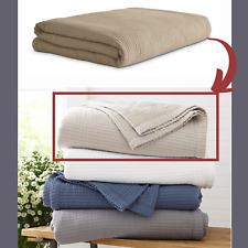 NIB $180 RiLEY Home Cotton Full/Queen Coverlet Blanket in Sand Beige #D117