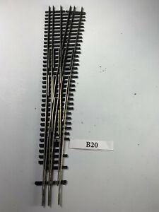 Shinohara Turnout Dual gauge HO/HOn3 RH Narrow Gauge on right, code 70 (B20)
