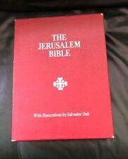 Vintage Jerusalem Bible with Box ~ Illustrations by Salvador Dali ~ 1970