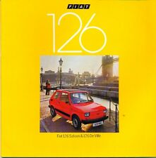 Fiat 126 Saloon & De Ville 1979 UK market sales brochure dated 4.77