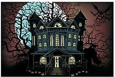 9 FOOT Haunted House Halloween Wall Mural Scene Setter Photo Backdrop