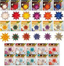 Bascetta Stern Set folia®, große Farbwahl, viele Muster und Größen bis 30x30cm