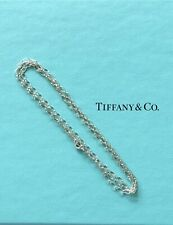 "Tiffany & Co Sterling Silver Oval Link 30"" Long Chain Necklace 2.7mm"
