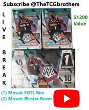 Memphis Grizzlies Break #162 19-20 Mosaic FOTL Hobby Blaster Box Prizm Zion