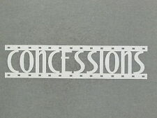 CONCESSIONS White Film Strip Wood Wall Words Hanging Sign Art Decor Movie Reel