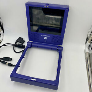 EXC Nintendo GameCube Indigo Portable LCD Screen, Cables TESTED Console Interact