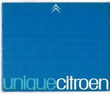 Citroen DS 1965 UK Market Sales Brochure ID DW Safari Decapotable