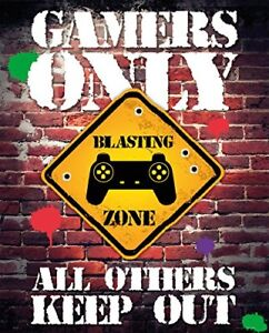 Gamers Only Controller Keep Out Mini Poster Print 40x50cm   16x20 inches