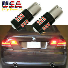 1156 Red 30-SMD Strobe/Flashing Blinking Car Rear Brake Tail Light Bulbs for BMW