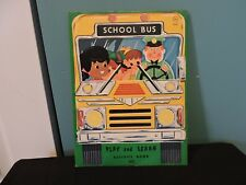 RARE 1969 SCHOOL BUS PLAY AND LEARN ACTIVITY BOOK SAMUEL LOWE 3065