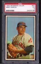 1953 Bowman Color #43 Mike Garcia Indians Ex PSA 5