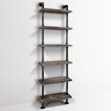 Six Level DIY Industrial Pipe Shelf Vintage Rustic Décor Design Furniture