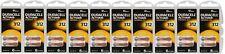 60 x Duracell 312 Hearing Aid Batteries Activair PR41 1.45V Zinc Air Easy Tab