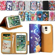 For Apple iPhone 345678/Itouch 3456 - Leather Wallet Stand Cover Case