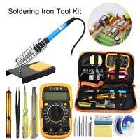 14PC 110//220V Practical Electric Soldering Iron Welding Kit Solder Wire Tweezers