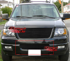 Fits 2003-2006 Ford Expedition Lower Bumper Black Billet Grille Insert