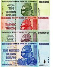 20 CANADIAN SELLER 50 /& 100 TRILLION Dollars AA 2008 UNC Zimbabwe 4 Notes 10