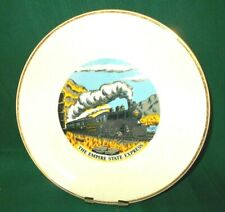 """9-3/4"""" """"Empire State Express"""" Collector Plate white with gold edge"""