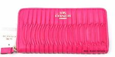 COACH - Madison Gathered Leather Accordion Zip Wallet 53982E Hot Pink - NWT!