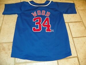 Nike Chicago Cubs Kerry Wood #34 Button Down Baseball Jersey Youth Medium 12-14