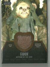 Topps Star Wars Legacy #ER-7 Ewok Fur Hair Costume Memorabilia Relic Card
